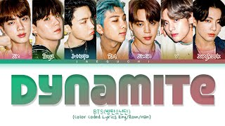 BTS \'Dynamite\' Lyrics 방탄소년단 Dynamite 가사 Color Coded Lyrics