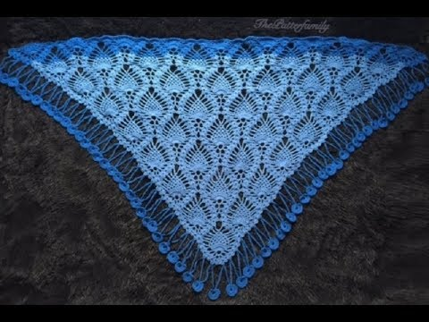 How To Crochet A Triangle Shawl Pattern 332by Thepatternfamily