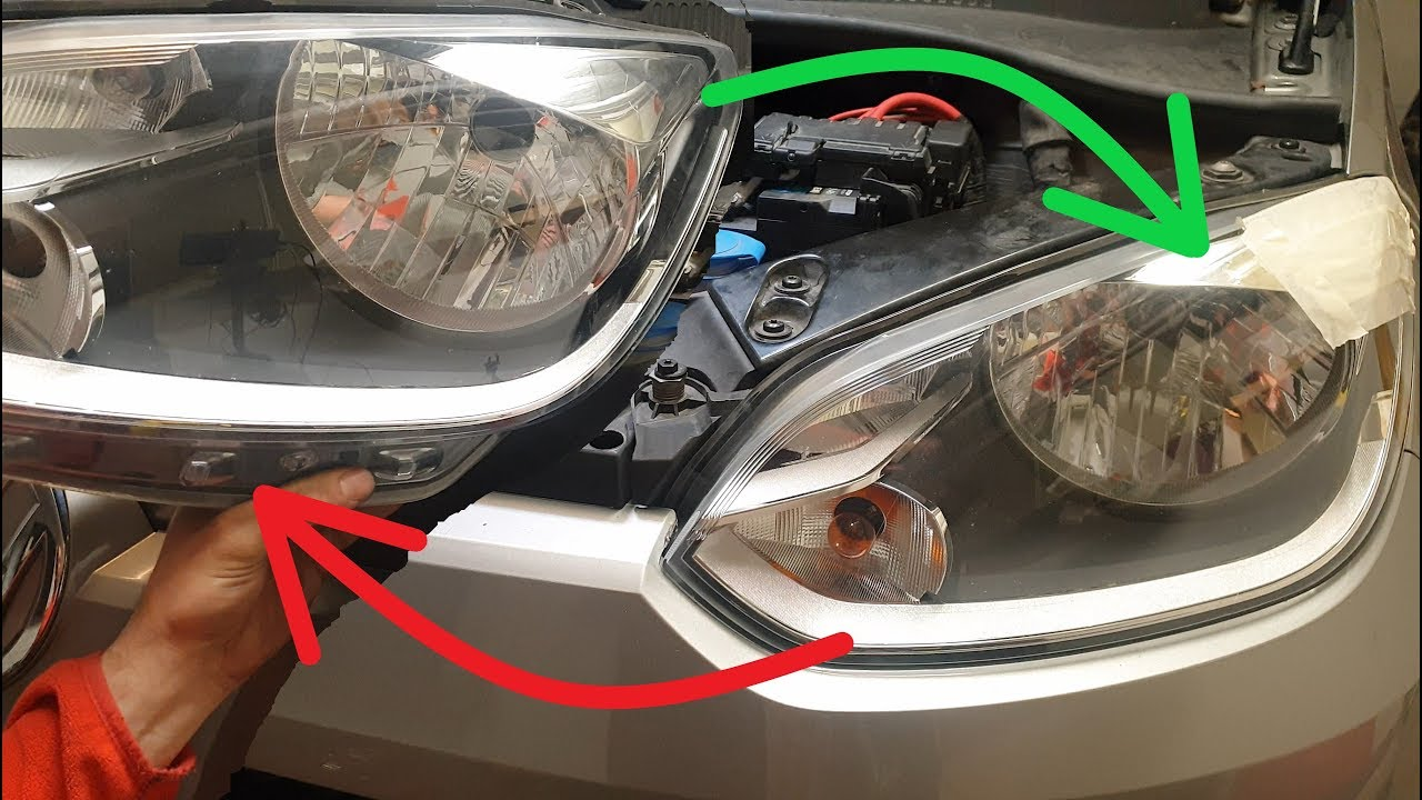 Volkswagen Up 2013 Headlight Assembly Removal Replacement Youtube