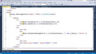 MVC Razor Use JQuery for CheckBox Client Side validation in ASP Net