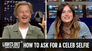 David Spade and Bella Thorne Talk Selfies with Fans - Lights Out with David Spade