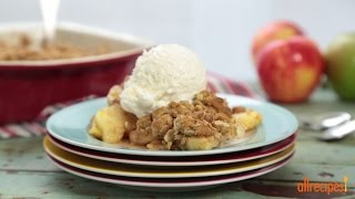 Apple Recipes - How To Make Oatmeal Cookie Apple Crisp