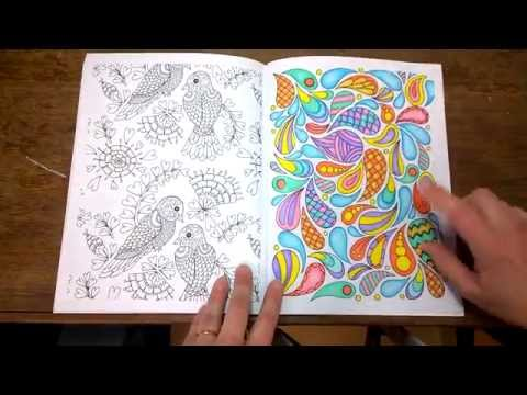 Coloring SuperVibrant Mandalas Tutorial By Cristina