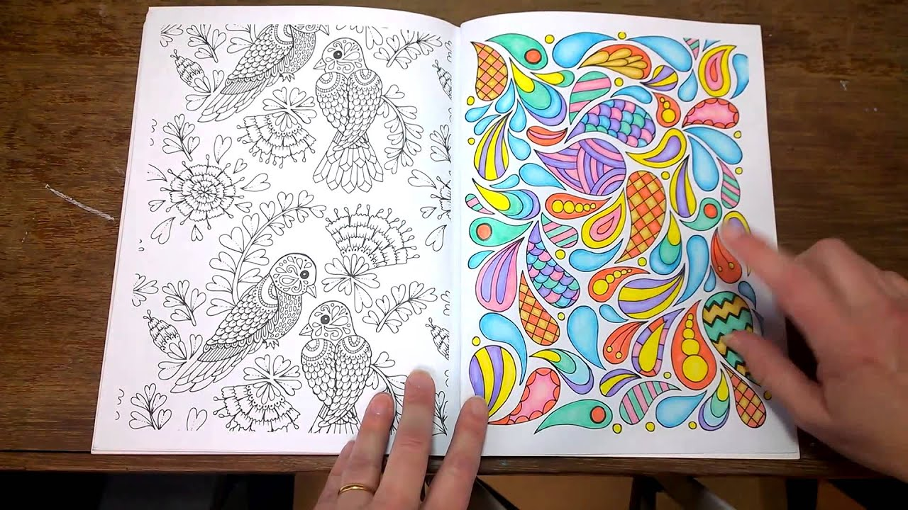 The Art Of Mindfullness Colouring Book Finished Pages Tips And Walk Through