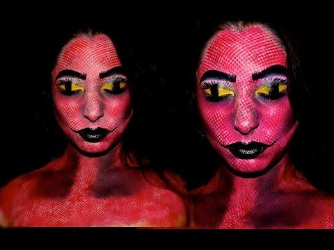 Halloween Makeup Tutorial: Evil Genie - 동영상