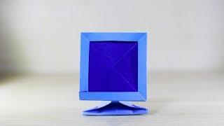 종이접기 origami tv origami monitor television 모니터접기 텔레비젼 접기 (ORIGAMI SONG)