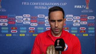 Claudio Bravo - Post-Match Interview - Match 16: Chile v Germany - FIFA Confederations Cup 2017