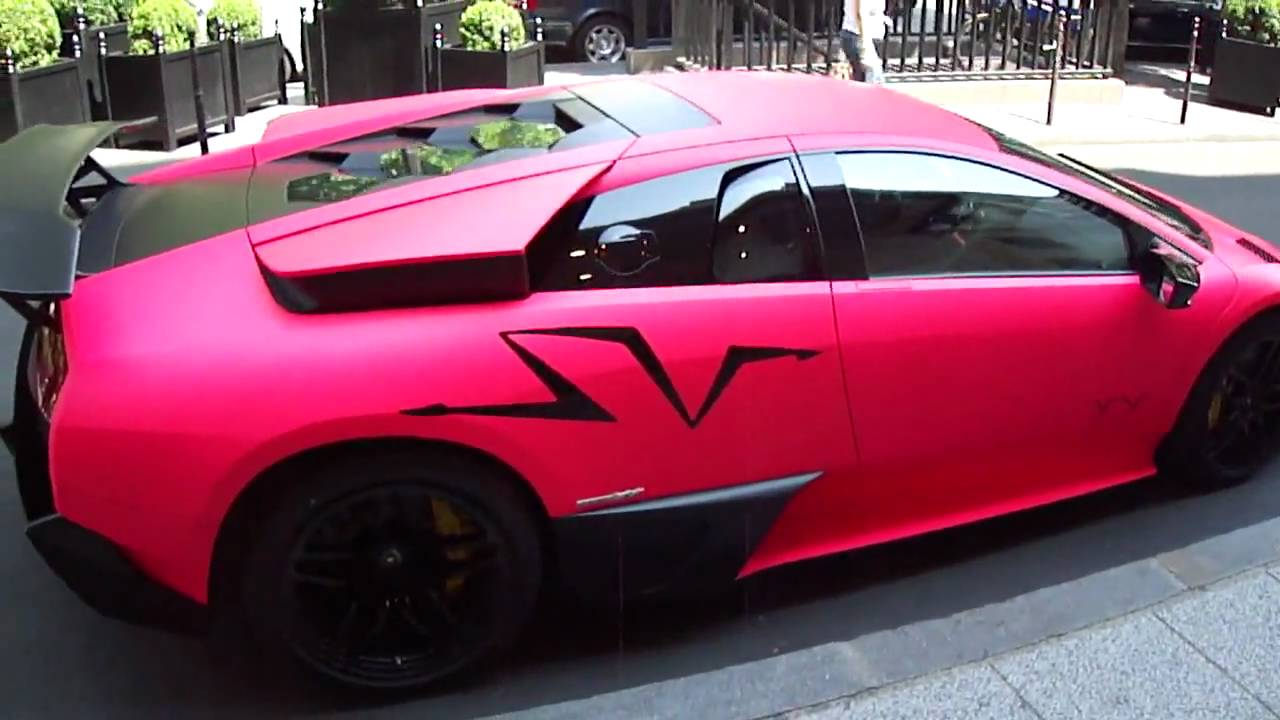 Lamborghini Murcielago Lp670 4 Sv Pink In Paris Hd Youtube