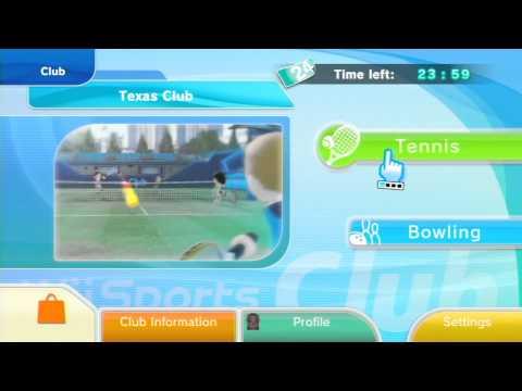 Free Wii Sports Club Demo: First Look: Online Tennis Match