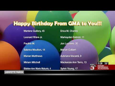 Today's Birthdays 2/21/2020