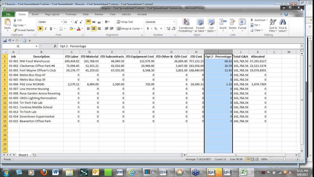 Sage 300 CRE - Allocating Overhead in Job Cost & General Ledger