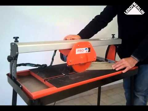 Utiliser le coupe carreaux lectrique prci 200 620 youtube for Couper carrelage meuleuse