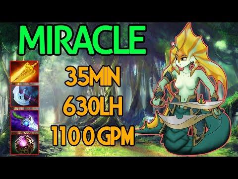 Miracle- Dota 2 : Naga Siren Vol.2 - [Carry] 35min 630LH 1100 GPM ???
