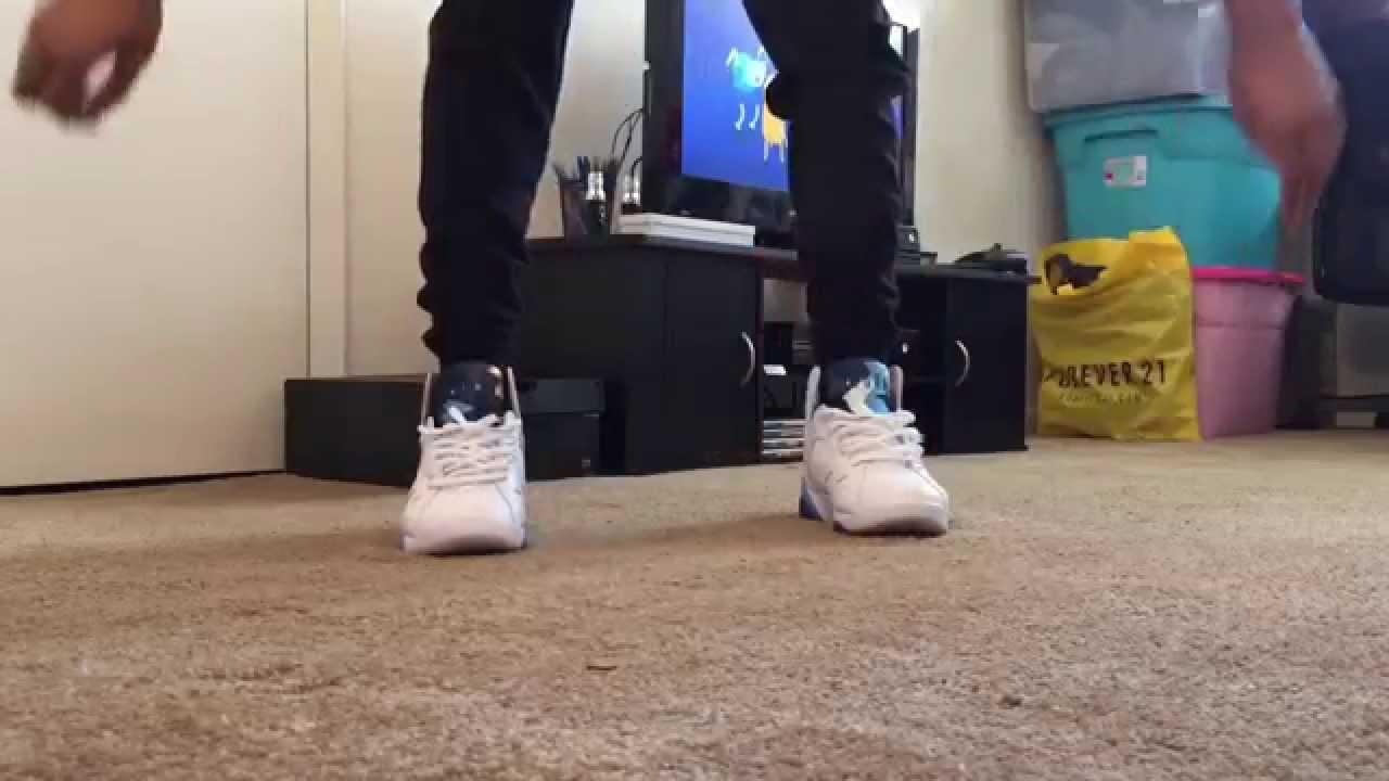 35aafed6affd ... promo code air jordan 7 french blue w on feet youtube d7aa6 1a56e