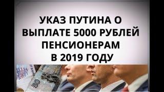 Указ Путина о выплате 5000 рублей пенсионерам в 2019 году