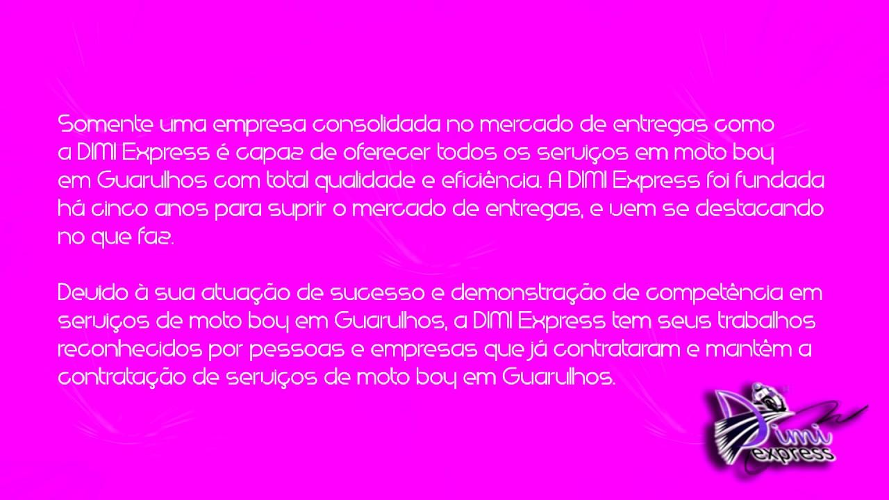 c092a476f Moto boy em Guarulhos - Dimi Express