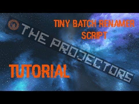 Space Engineers - Tiny Batch Renamer Script