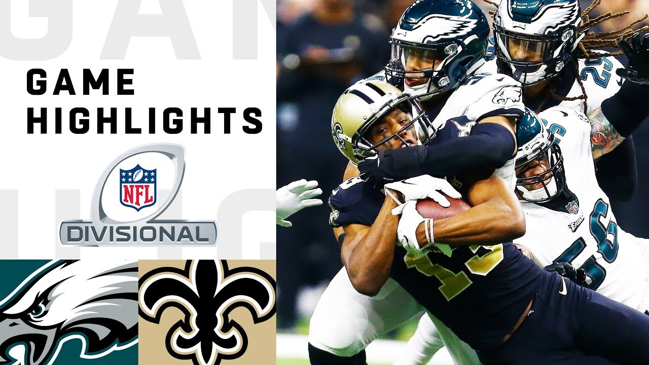 9ce593e7bbd Eagles vs. Saints Divisional Round Highlights