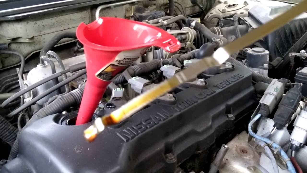 2000 Nissan Sentra Oil Change - YouTube