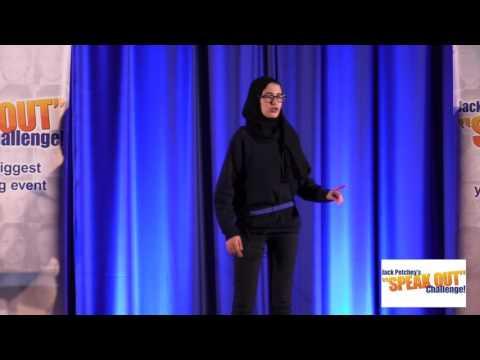 "Amina Haroumi, Runner-Up, Jack Petchey's ""Speak Out"" Challenge! Islington Regional Final 2016-17"