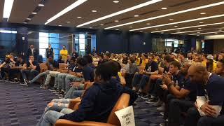 Michigan basketball team reacts to NCAA Tournament bid announcement