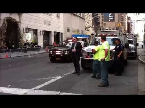 President Omaba's visit to NYC (UN) - Motorcade / Secret Service - 09.21.2016