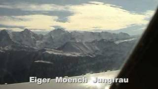 Flying VELOCITY Aircraft over Switzerland Mountains