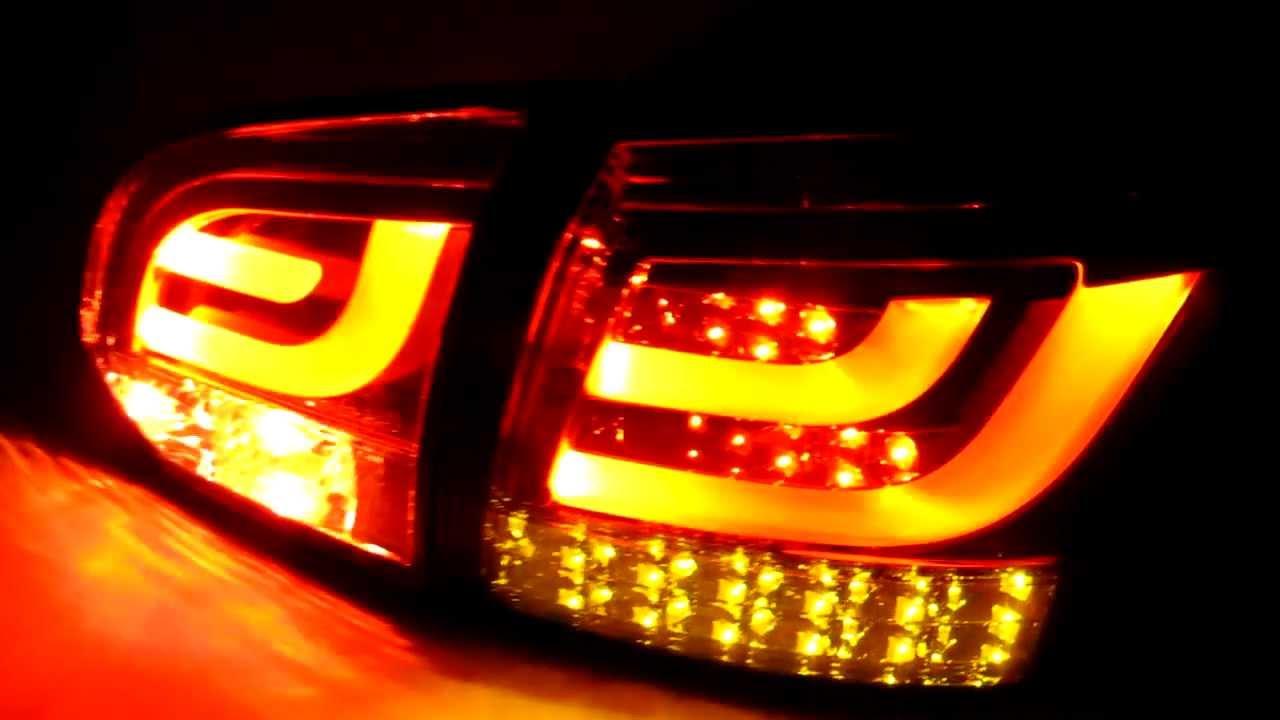Golf MK6 VI 2008-2012 08-12 ALL LED Tail Rear Light Smoke for VW Volkswagen - YouTube