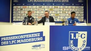 Pressekonferenz vor dem Spiel – 1. FC Magdeburg gegen VfB Stuttgart II – www.sportfotos-md.de