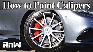 How to Paint and Spray Clear Coat on Brake Calipers - Like a BOSS