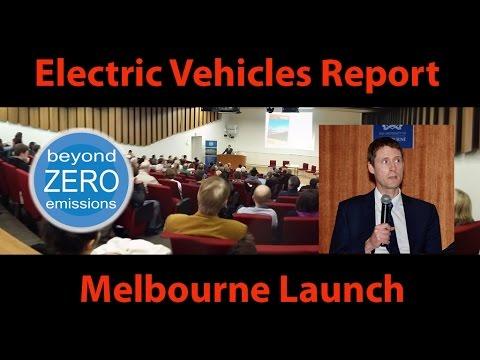 Beyond Zero Emissions EV Report Launch (Melb)