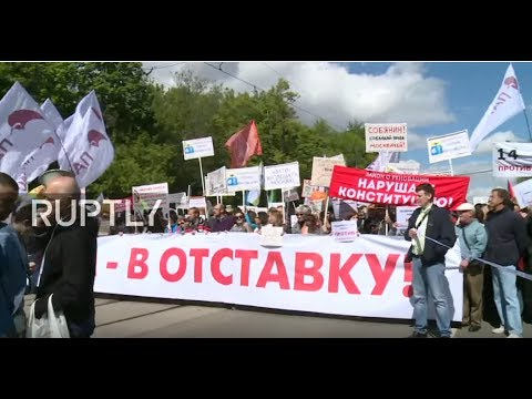LIVE: Protest against Moscow's housing resettlement hits the Russian capital