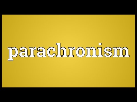 Header of parachronism