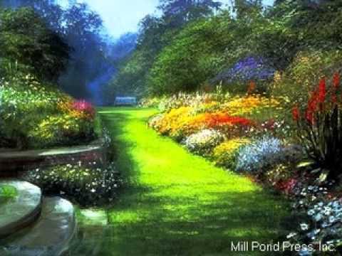 Paisajes y flores youtube for Jardines bellos fotos