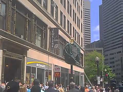 clock unveiling at the jewelers building