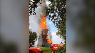 Пожар уничтожил деревянную церковь XVIII века в Карелии