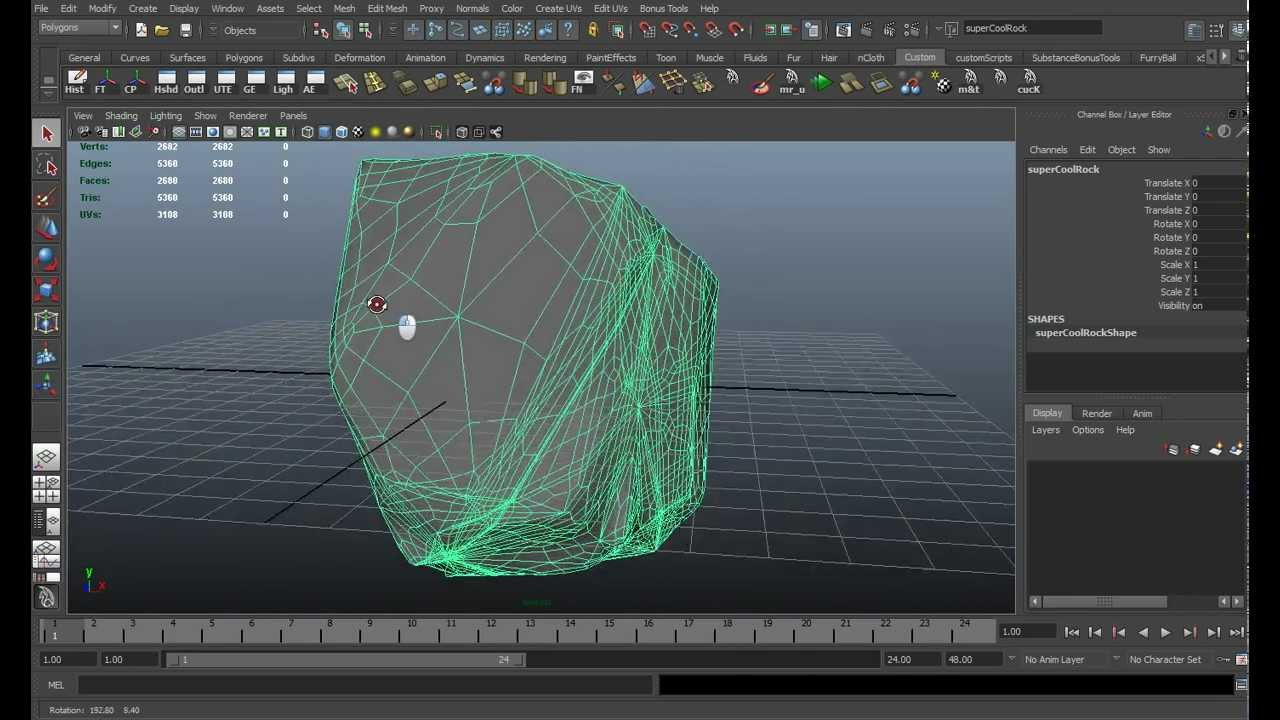 Custom Maya Rock Script Youtube