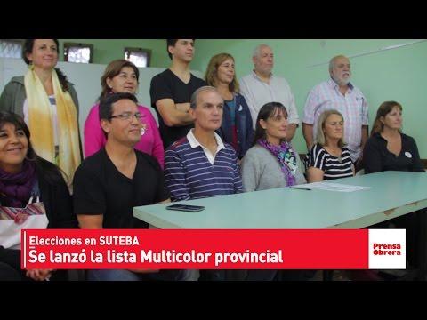 Elecciones Suteba // Se presentó la lista Multicolor provincial