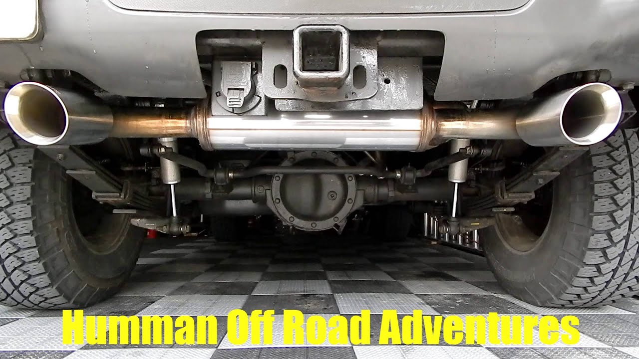 MAGNAFLOW Performance Exhaust System Sound on HUMMER H3