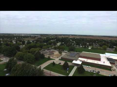 Eagle Eye Broadcasting Drone Flying Over O'Neill, Nebraska