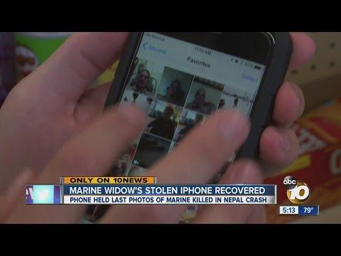 Marine widow's stolen iPhone recovered