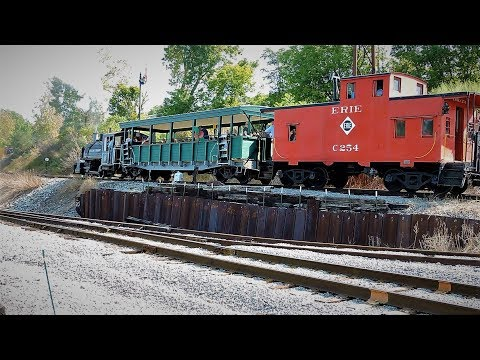 Day At The R & GV Railroad Museum With Viscose Company #6 Steam Engine In Rush, NY 8-20-17
