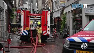 Grote brand in binnenstad Dordrecht