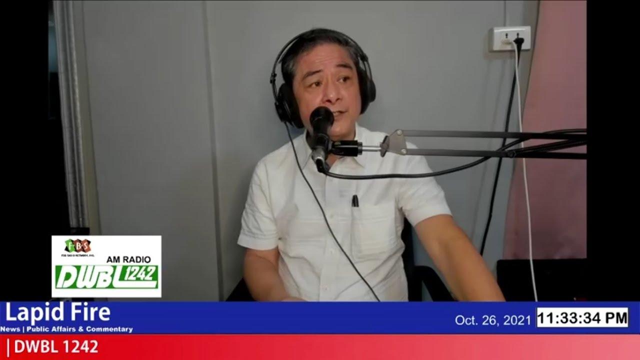 MASASAMANG KATANGIAN NI P-DUTERTE, NA KAY ISKO! (LAPID FIRE, Oct 26, 2021)
