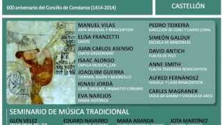 III INTERNATIONAL COURSE ON MEDIEVAL & RENAISSANCE MUSIC - MORELLA 2014