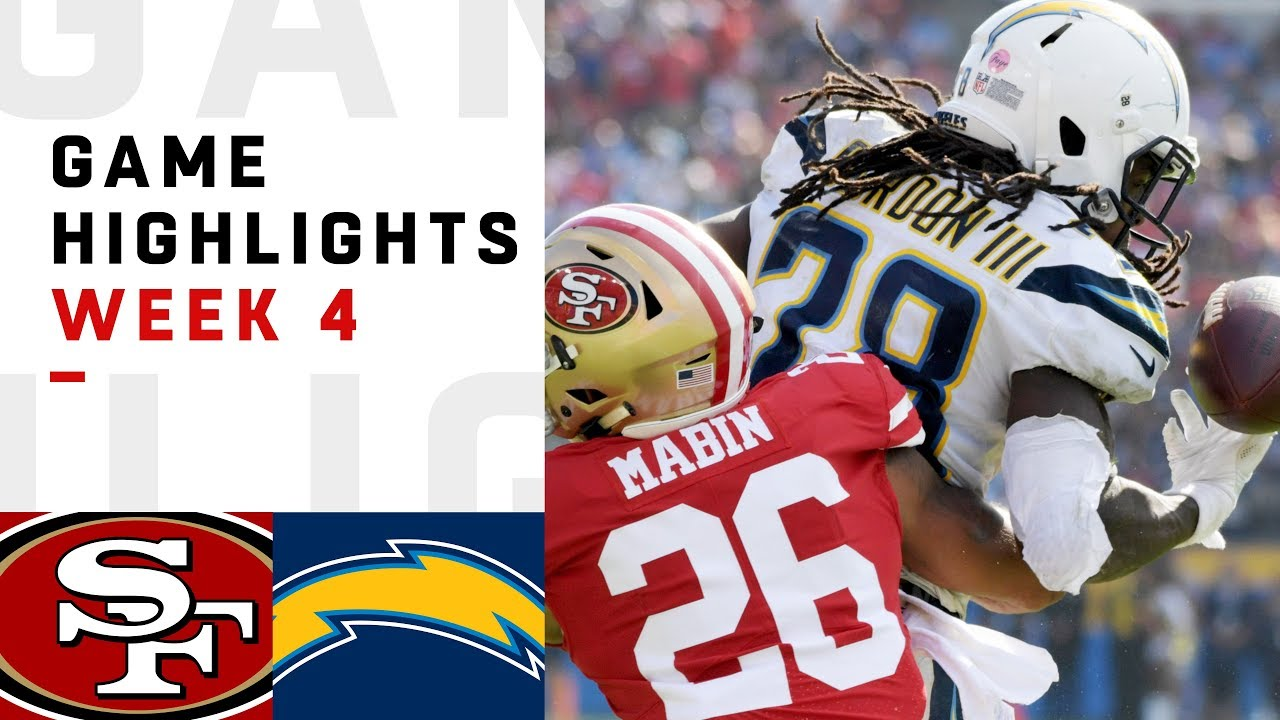 designer fashion a05ab 8781c 49ers vs. Chargers Week 4 Highlights | NFL 2018