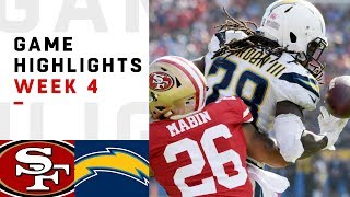 49ers vs. Chargers Week 4 Highlights | NFL 2018