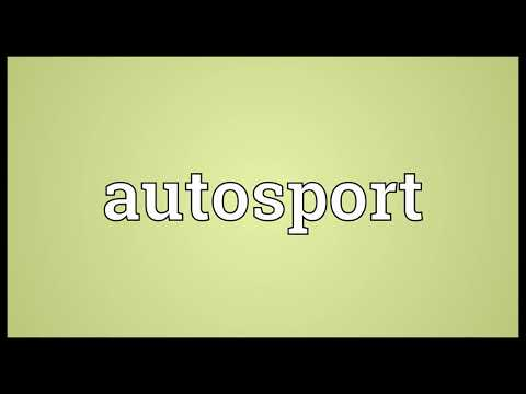 Autosport Meaning