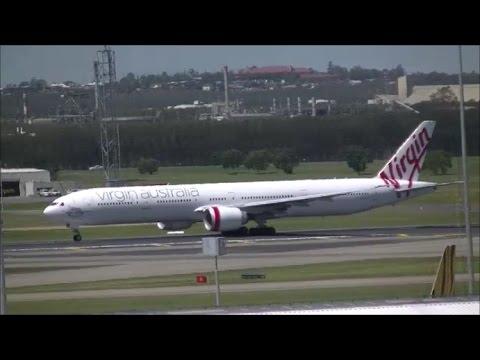Virgin Australia 777-300ER [VH-VOZ] Takeoff From Brisbane Airport