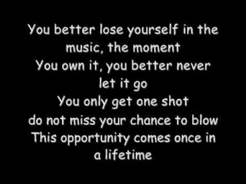 Eminem Loose Yourself With Lyrics